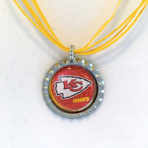 Kansas City CHIEFS Handmade Football Necklace